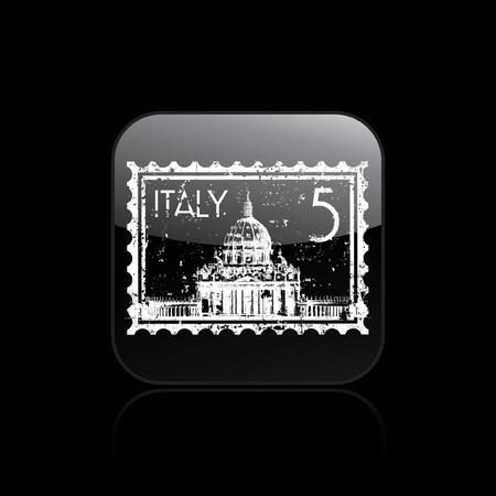 Vector illustration of single isolated Rome icon Illustration