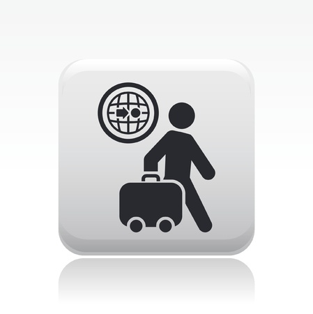 expenditure: Vector illustration of single isolated travel icon