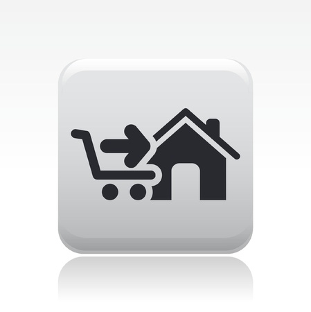 cart cash: Vector illustration of single isolated store icon Illustration