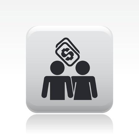 Vector illustratie van enkele geïsoleerde prostitutie icoon