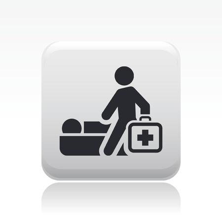 medical assistant: Ilustraci�n vectorial de un solo icono m�dico aislado