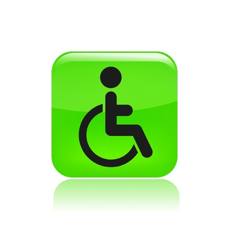 Vector illustration of single isolated handicap icon