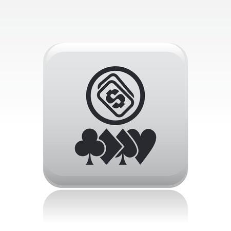 hold'em: Vector illustration of single isolated Poker icon