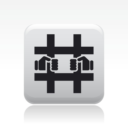 Vector illustration of single isolated prison icon Stock Vector - 12127020
