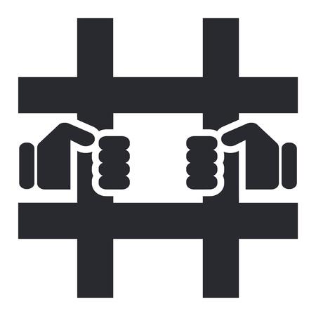 carcel: Ilustraci�n vectorial de un solo icono de prisi�n aislada