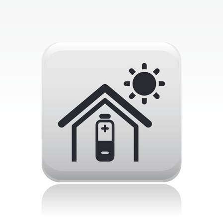 Vector illustration of single isolated bioenergy home icon Stock Vector - 12127941