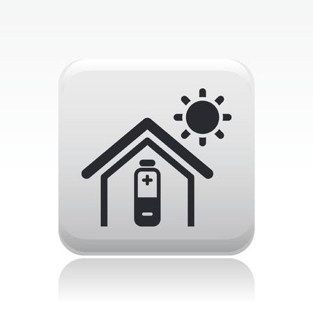 bioenergy: Vector illustration of single isolated bioenergy home icon Illustration
