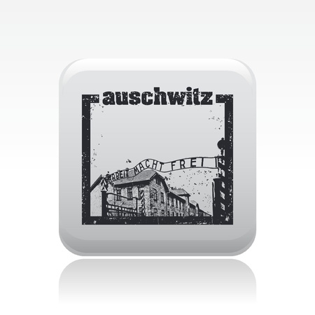 Vector illustration of single isolated auschwitz icon Stock Vector - 12130208