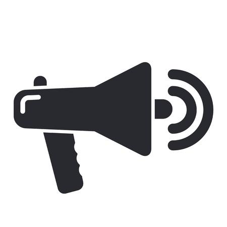 Vector illustration of single isolated megaphone icon Illustration