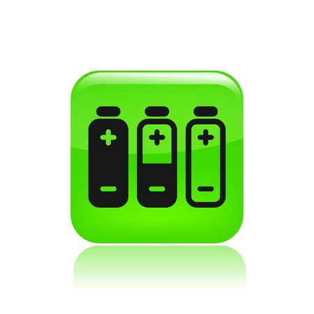 Vector illustration of single isolated battery icon