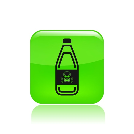 demise: Vector illustration of single isolated bottle icon