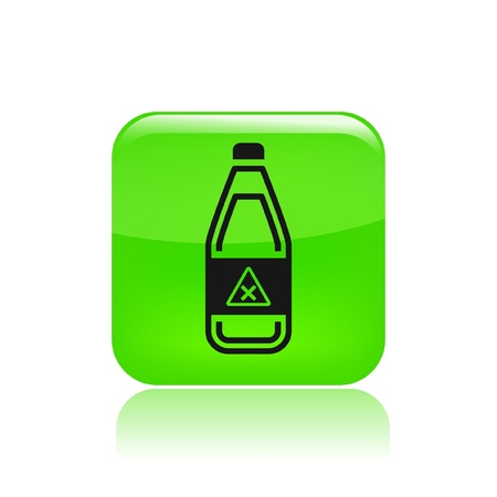 Vector illustration of single isolated bottle icon Stock Vector - 12129287