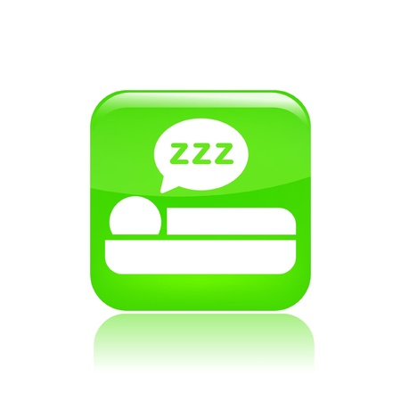 Vector illustration of single isolated sleep icon Stock Vector - 12127411