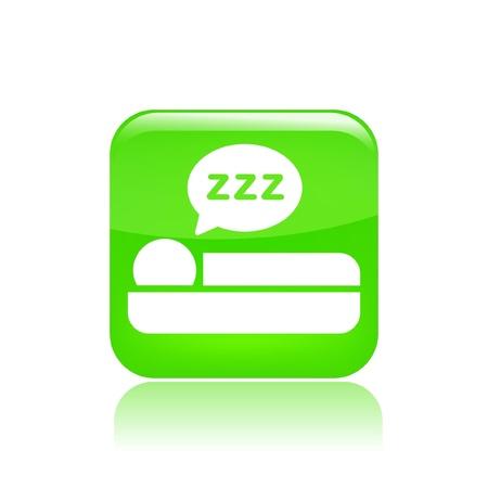 Vector illustration of single isolated sleep icon Stock Vector - 12127411