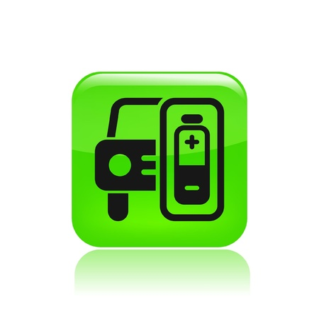 Vector illustration of single isolated charge car icon Stock Vector - 12129303