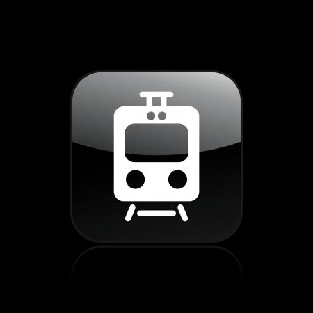 storehouse: Ilustraci�n vectorial de un solo �cono de tren aislado