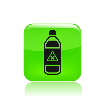 Vector illustration of single isolated bottle icon Stock Vector - 12129252