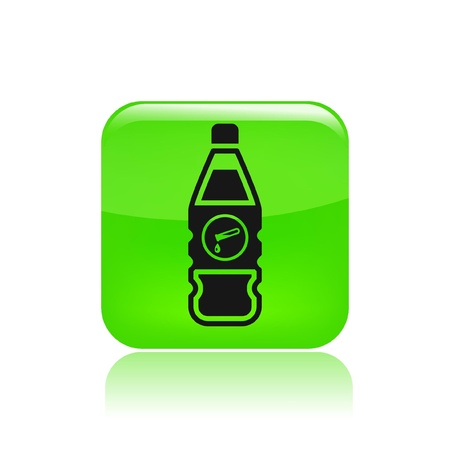 Vector illustration of single isolated bottle icon Stock Vector - 12129435