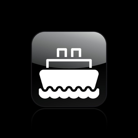 ferry boat: Vector illustration of single isolated boat icon