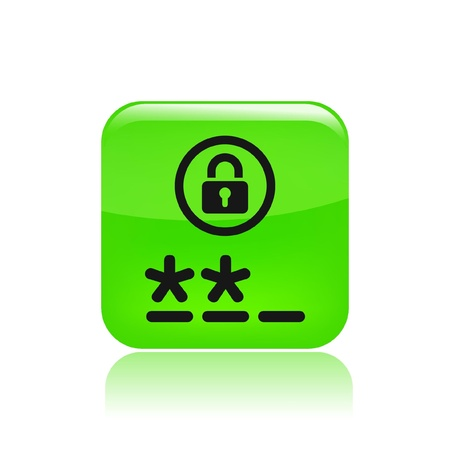 personal profile: Vector illustration of single isolated password icon
