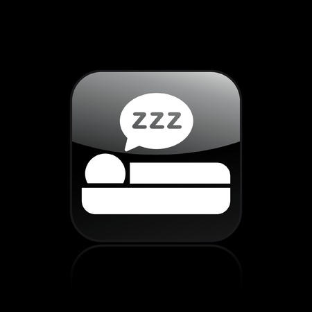 Vector illustration of single isolated sleep icon Stock Vector - 12128886