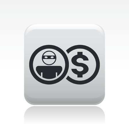 Vector illustration of single isolated thief icon Stock Vector - 12126684
