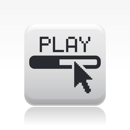 Vector illustration of single isolated player progress icon