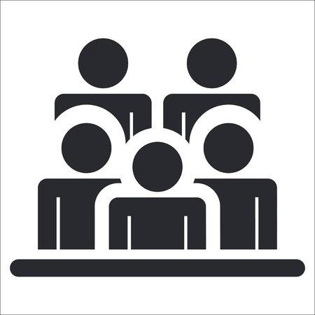 Vector illustration de seule icône de personnes isolées Vecteurs