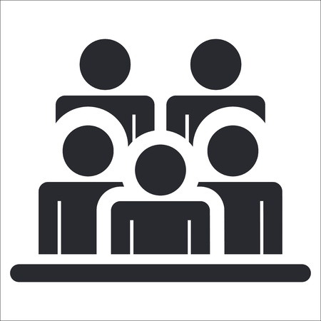 audiences: Vector illustration of single isolated people icon