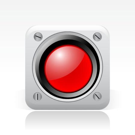 semaphore: Vector illustration of single isolated red signal icon Illustration