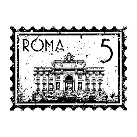 vatican city: Vector illustration of single isolated Rome icon Illustration