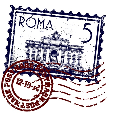 Vector illustration of single isolated Rome icon Vector