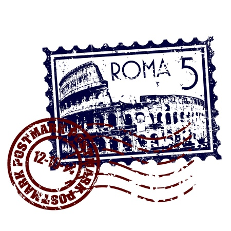 rome italy: Vector illustration of single isolated Italy icon Illustration