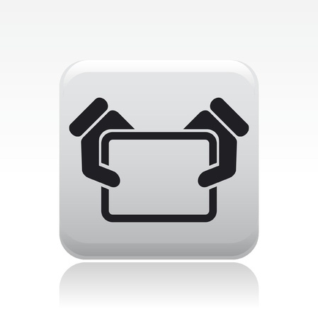 pc icon: Vector illustration of single isolated pc icon Illustration