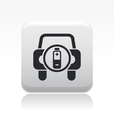 Vector illustration of single isolated car battery icon Vector
