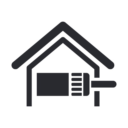 restoration: Vector illustration of single isolated paint home icon
