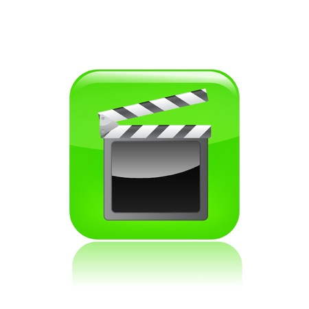 directing: Vector illustration of single isolated clapper icon