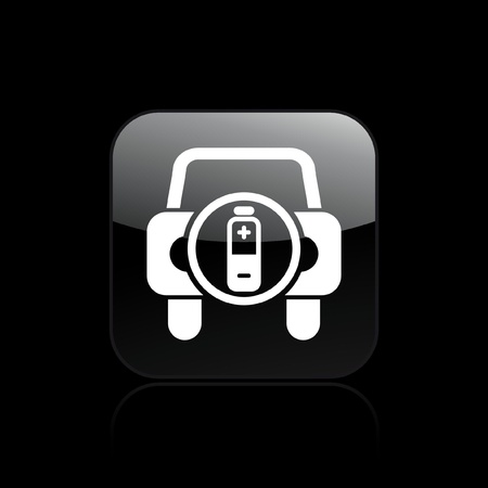 Vector illustration of single isolated car battery icon Stock Vector - 12128920