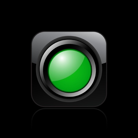 Vector illustration of single isolated green light icon Vector