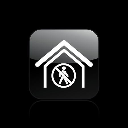 exclude: Vector illustration of single isolated forbidden acces icon