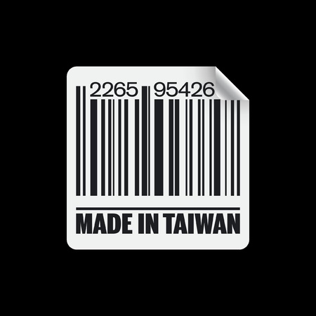 asiatic: Vector illustration of single isolated made in Taiwan icon Illustration