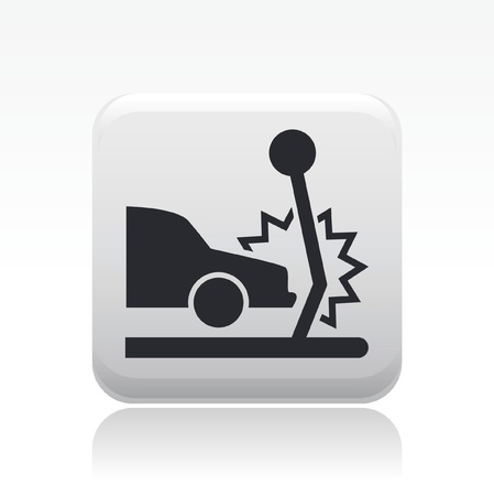 Vector illustration of single isolated crash icon Vector