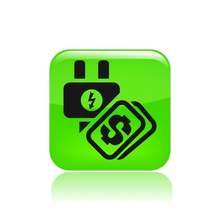 Vector illustration of single isolated energy cost icon Vector