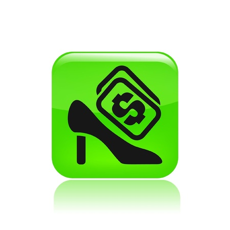 Vector illustration of single isolated shoe icon Stock Vector - 12129272