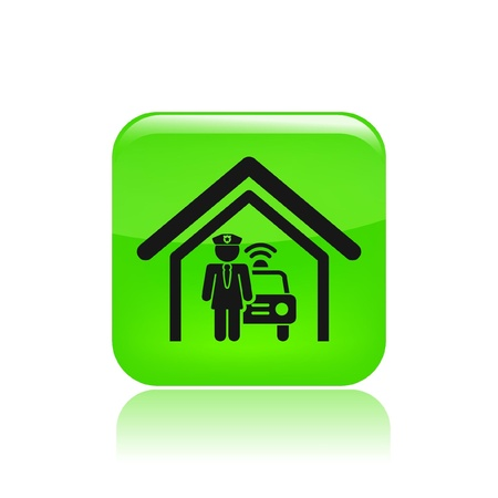 Vector illustration of single isolated police station icon Stock Vector - 12129516