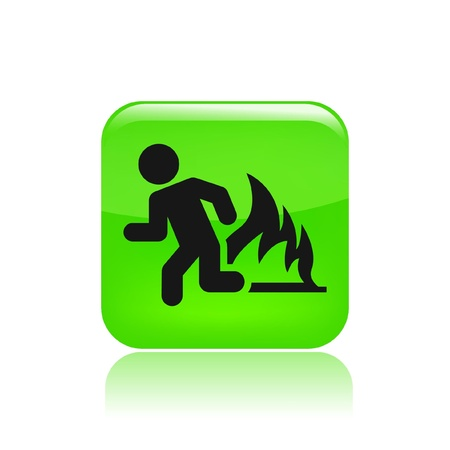 Vector illustration of single isolated fire exit icon Stock fotó - 12129253