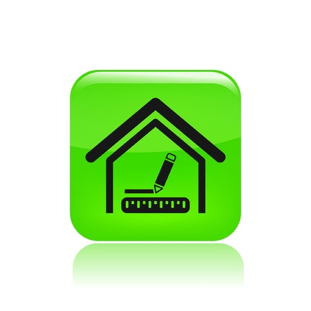 Vector illustration of single isolated home design icon Vector