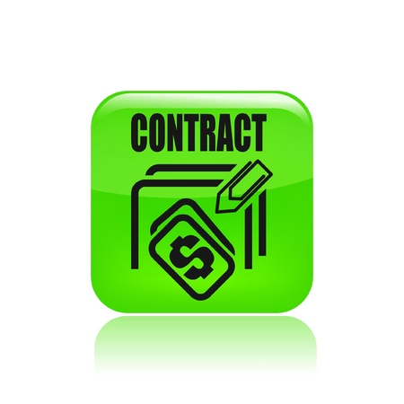stipulation: Vector illustration of single isolated contract price icon Illustration