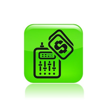 dee jay: Vector illustration of single isolated dj price icon
