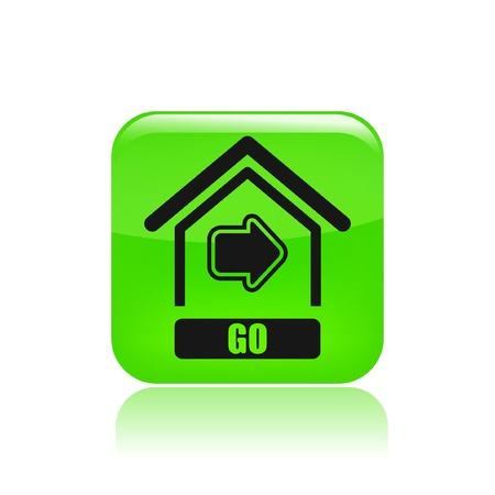 come home: Vector illustration of single isolated go home icon